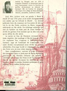 Livre d'Annick Douguet : Juges, esclaves et négriers en Basse-Bretagne.